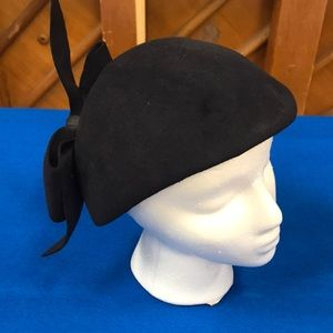 Stylishly retro black wool cap